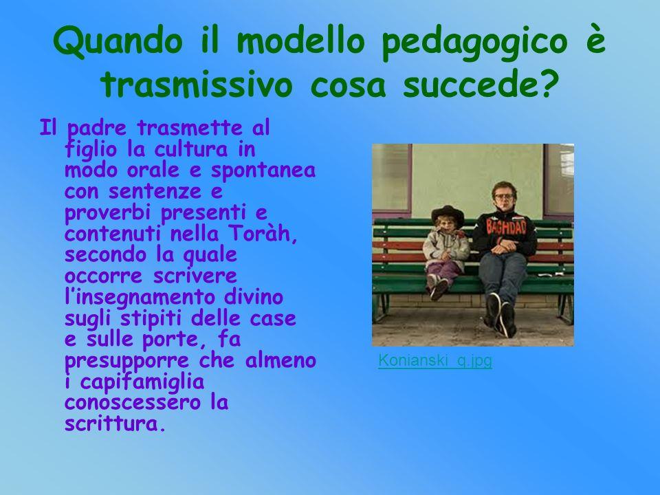 Quando il modello pedagogico è trasmissivo cosa succede.
