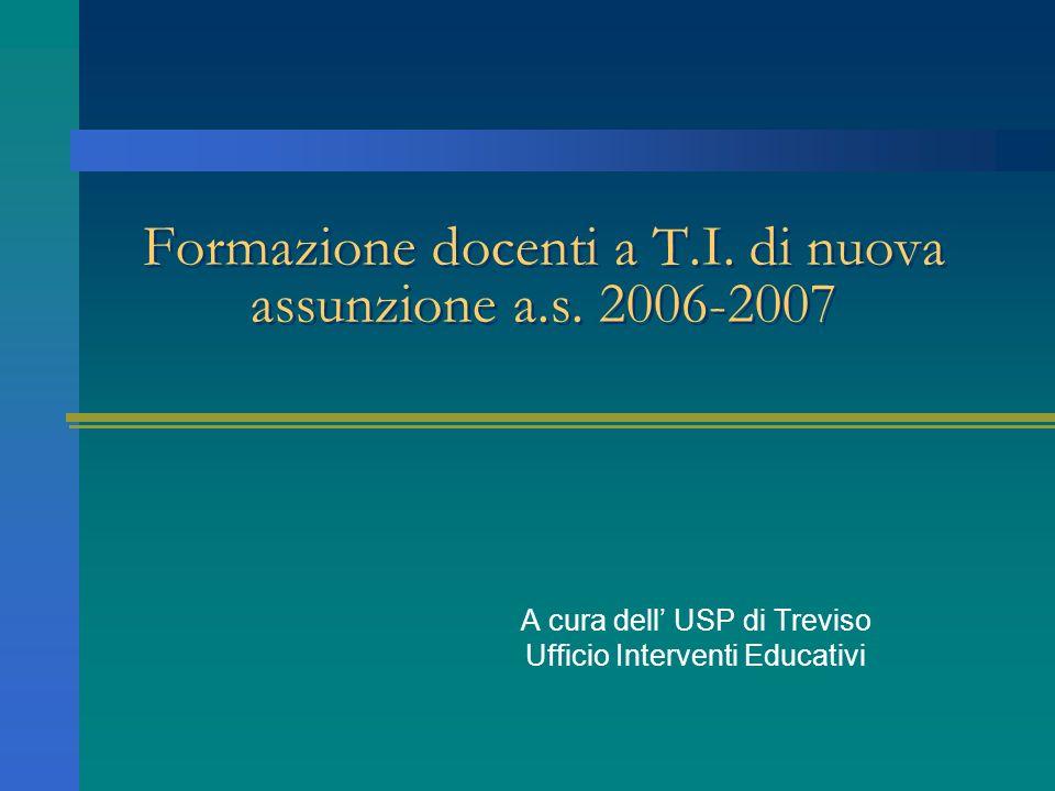 Formazione docenti a T.I. di nuova assunzione a.s.