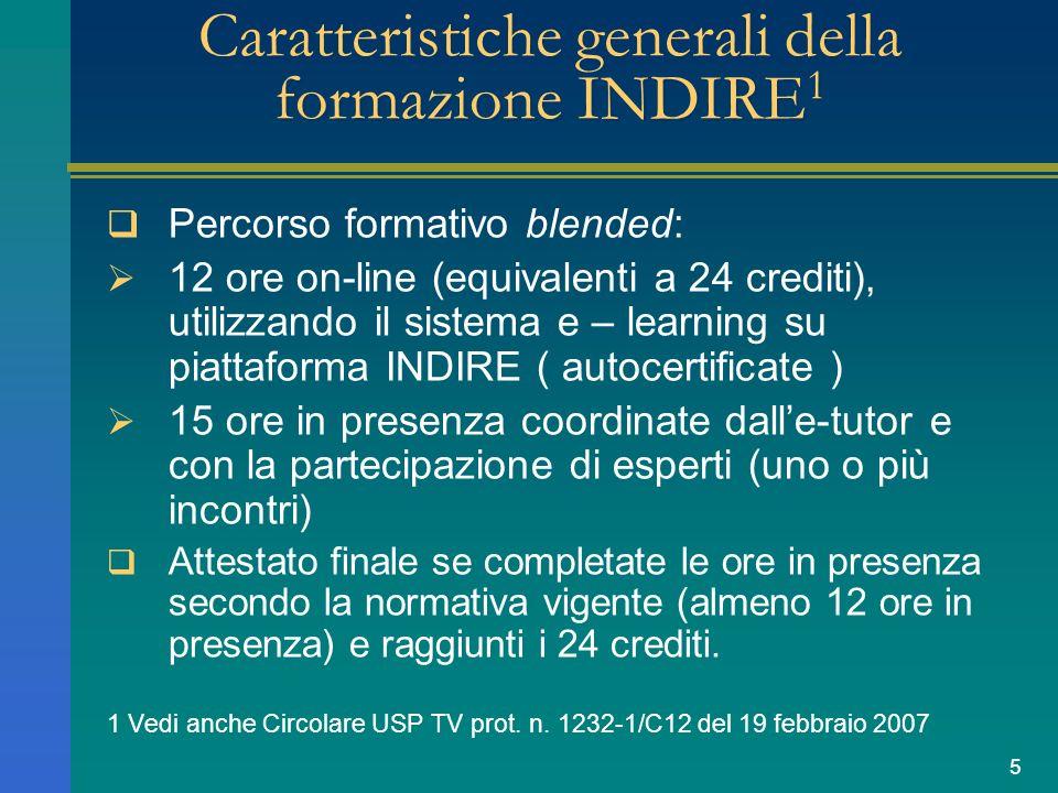 6 Contenuti della formazione INDIRE on-line (1) Moduli formativi attinenti i seguenti argomenti: 1.