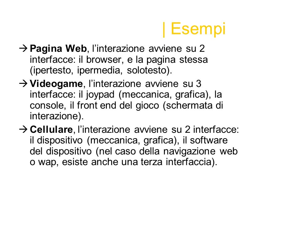 Interfaccia | Definizione Definizione dal web A linkage, usually between a computer and a user, or among computer programs.