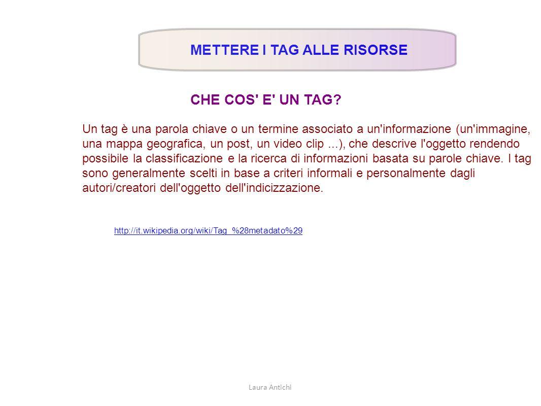 TAG IN AUTOMATICO COME NUVOLA CON UN SOFTWARE ON LINE si taggano testi e siti WORDLE http://www.wordle.net/create Laura Antichi