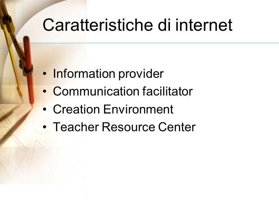 scenari di utilizzo Tele-teaching Tele-tutoring Tele-cooperation Self-learning