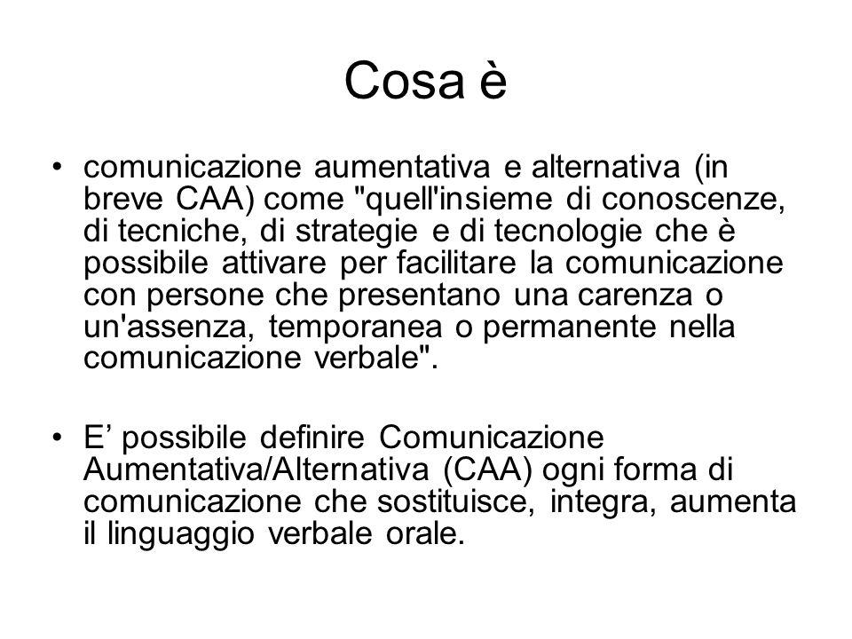 Cosa è comunicazione aumentativa e alternativa (in breve CAA) come