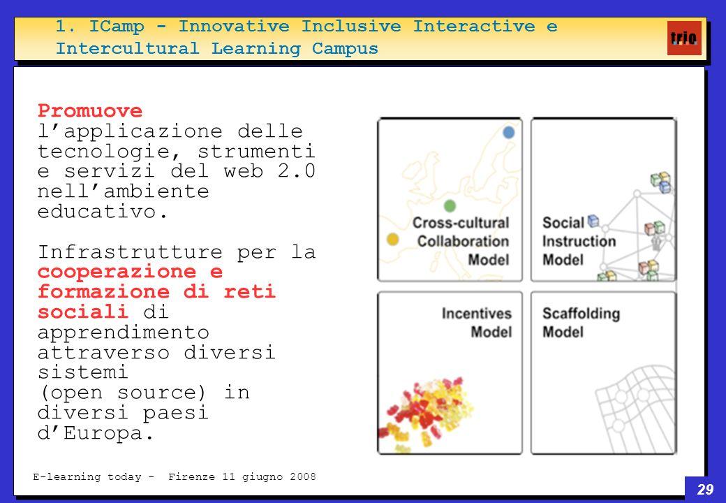 29 E-learning today - Firenze 11 giugno 2008 Promuove lapplicazione delle tecnologie, strumenti e servizi del web 2.0 nellambiente educativo.