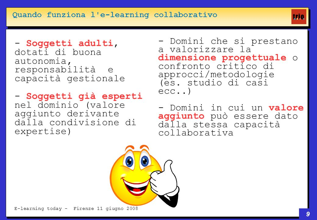 30 E-learning today - Firenze 11 giugno 2008 1.