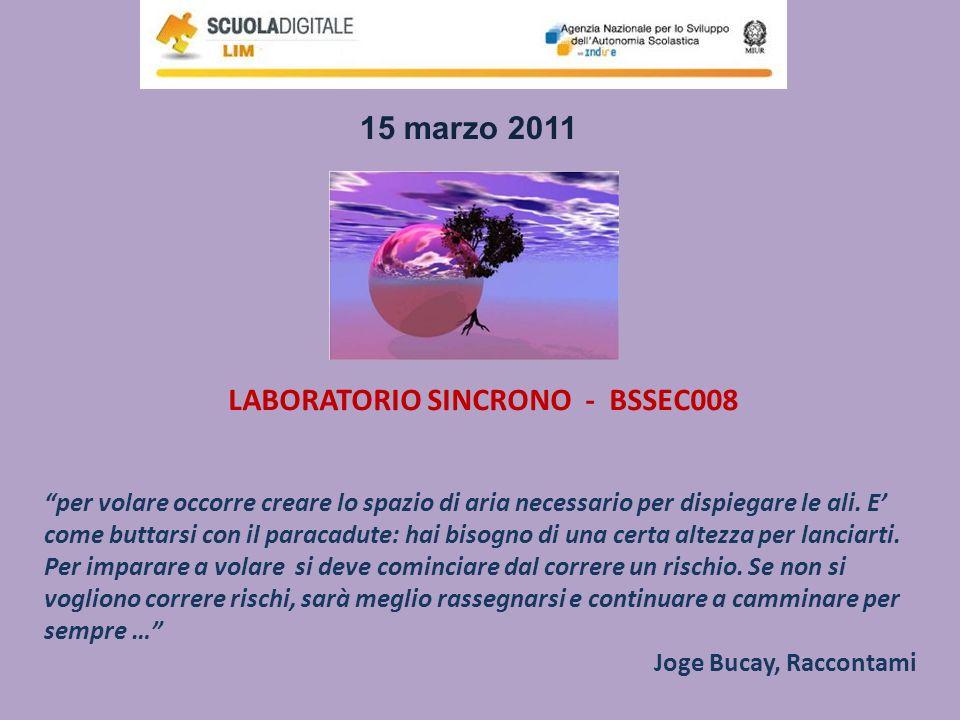 LABORATORIO SINCRONO - BSSEC008 per volare occorre creare lo spazio di aria necessario per dispiegare le ali. E come buttarsi con il paracadute: hai b