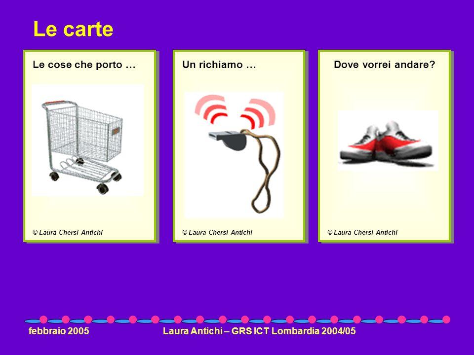 febbraio 2005Laura Antichi – GRS ICT Lombardia 2004/05 © Laura Chersi Antichi Le cose che porto … © Laura Chersi Antichi Un richiamo … © Laura Chersi