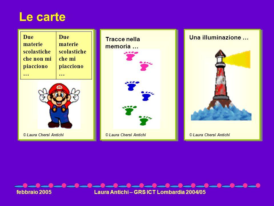 febbraio 2005Laura Antichi – GRS ICT Lombardia 2004/05 © Laura Chersi Antichi Due materie scolastiche che non mi piacciono … Due materie scolastiche c