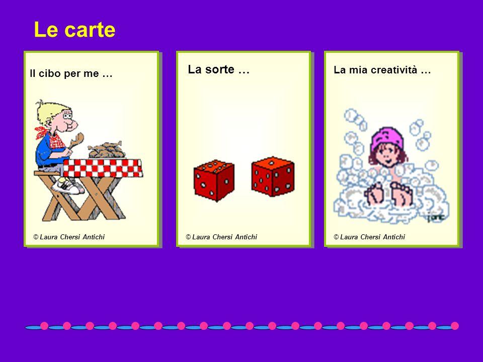 © Laura Chersi Antichi Il cibo per me … © Laura Chersi Antichi La sorte … © Laura Chersi Antichi La mia creatività … Le carte