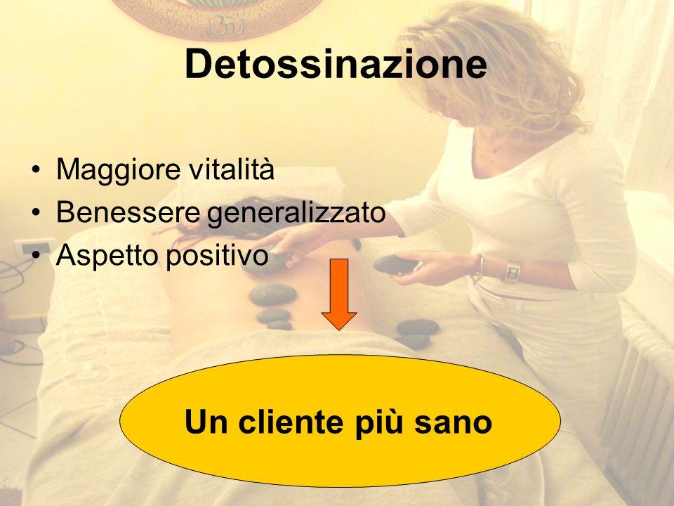 Detossinazione Maggiore vitalità Benessere generalizzato Aspetto positivo Un cliente più sano