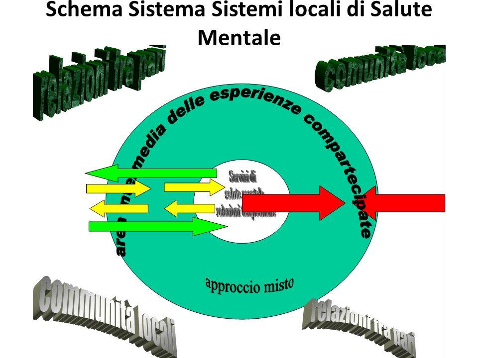 Schema Sistema Sistemi locali di Salute Mentale