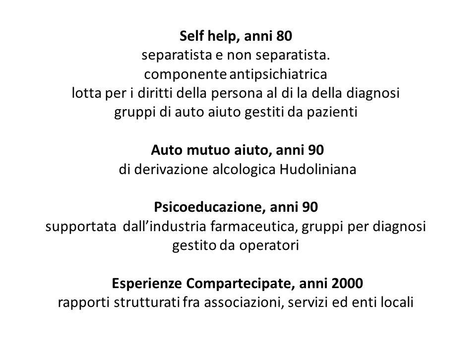 Self help, anni 80 separatista e non separatista.