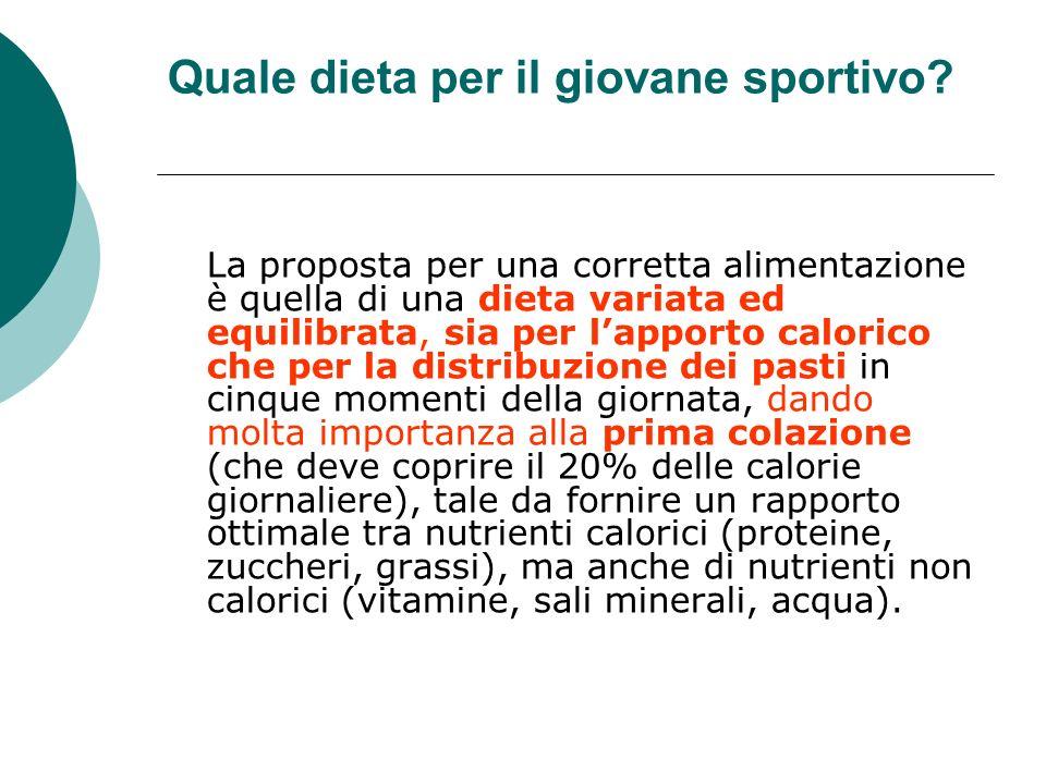 Deve essere infatti assicurata la copertura di tutte le esigenze di un soggetto in accrescimento che fa sport, con minimo impegno gastrico e affaticamento digestivo durante le competizioni.