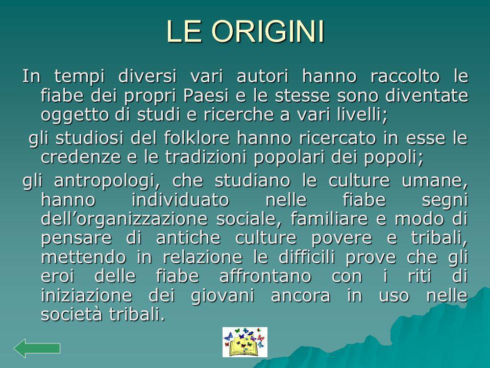 CONCLUSIONE Nelle fiabe di culture diverse prevalgono le somiglianze rispetto alle differenze.