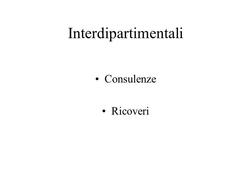 Interdipartimentali Consulenze Ricoveri