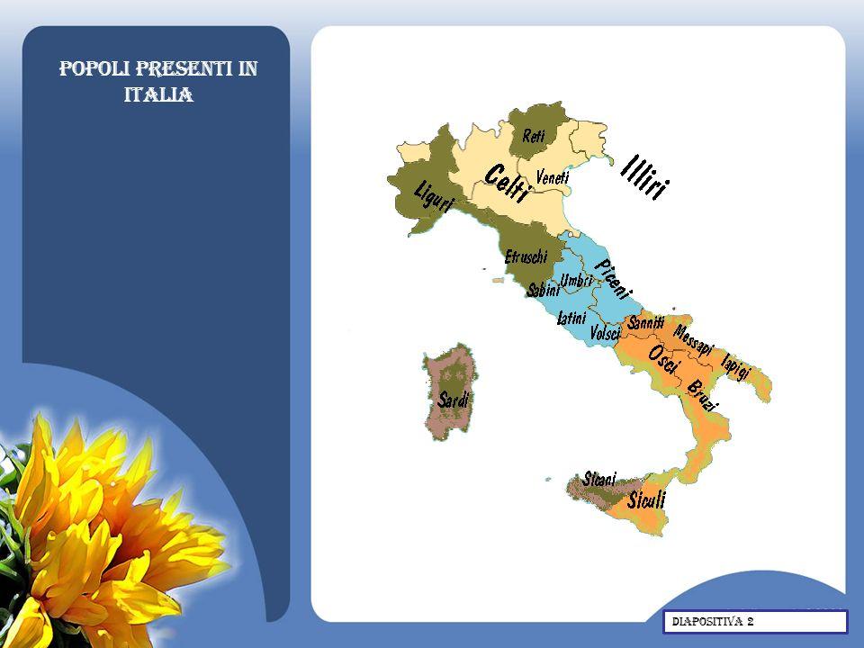 Il nome italia Il nome Italia indicava nel 600 a.C.