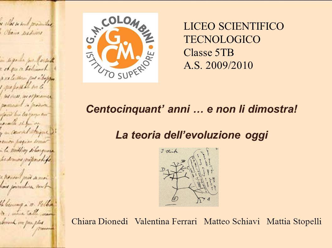 Chiara Dionedi Valentina Ferrari Matteo Schiavi Mattia Stopelli LICEO SCIENTIFICO TECNOLOGICO Classe 5TB A.S.