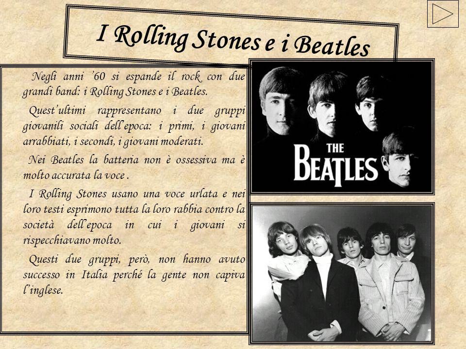 Il rock in Italia In Italia invece la prima canzone rock fu Nel blu dipinto di blu di Domenico Modugno, che faceva parte della generazione degli urlatori insieme a Mina e ad Adriano Celentano.