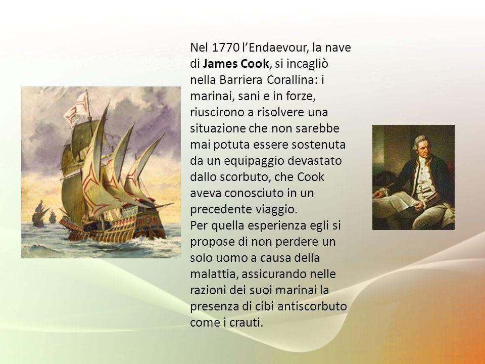 Nel 1770 lEndaevour, la nave di James Cook, si incagliò nella Barriera Corallina: i marinai, sani e in forze, riuscirono a risolvere una situazione ch