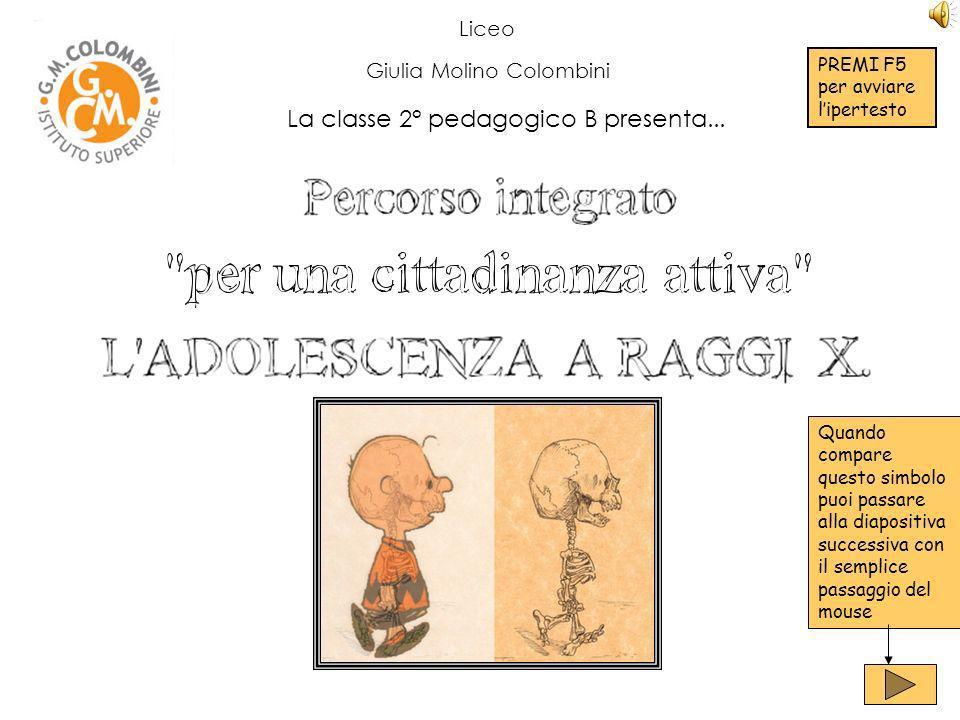 Liceo Giulia Molino Colombini La classe 2° pedagogico B presenta...