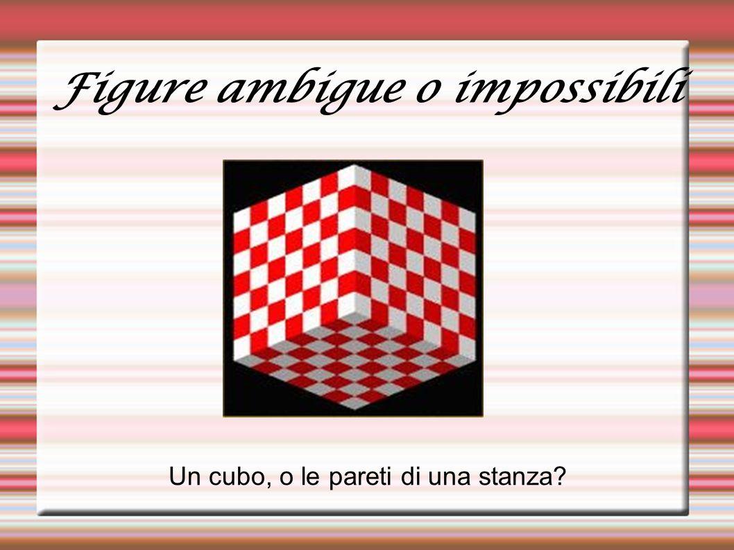 Figure ambigue o impossibili Un cubo, o le pareti di una stanza