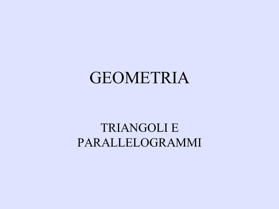CRITERI DEL PARALLELOGRAMMO In ogni parallelogrammo: 1.Se le diagonali hanno lo stesso punto medio 2.Se i lati sono congruenti 3.Se gli angoli opposti sono congruenti 4.Se gli angoli adiacenti a ciascun lato sono supplementari 5.Se ha due lati opposti congruenti e paralleli