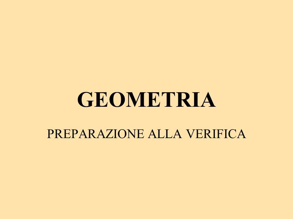 GEOMETRIA PREPARAZIONE ALLA VERIFICA