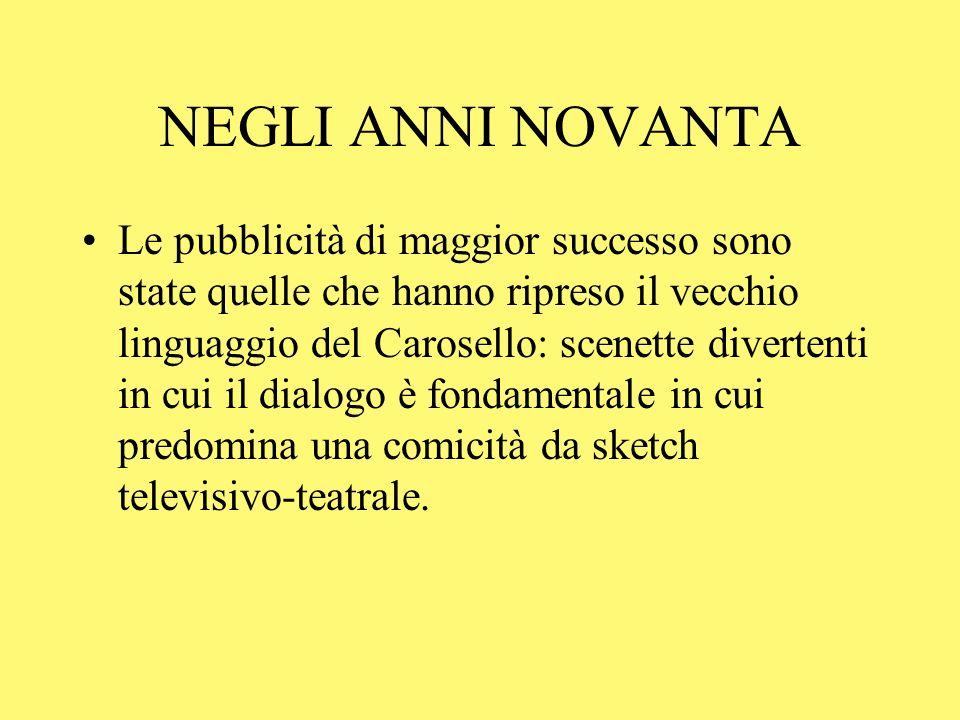 TELECOM UNA TELEFONATA ALLUNGA LA VITA 1993 Prodotta dallagenzia Armando Testa, che aveva già prodotto nomerose pubblicità per il Carosello.