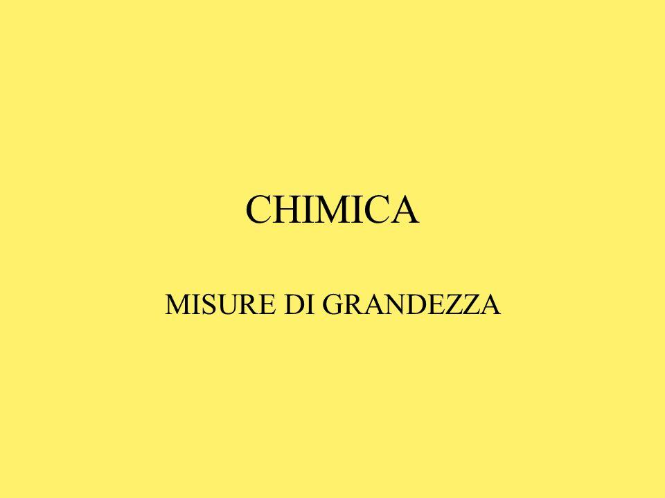 CHIMICA MISURE DI GRANDEZZA