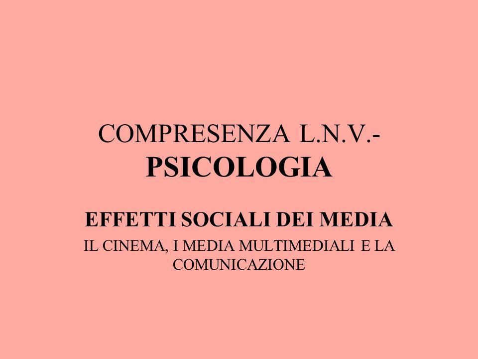 QUALE LINFLUENZA SOCIALE DEI MEDIA SULLUOMO E SULLA SOCIETA Cosè la comunicazione.
