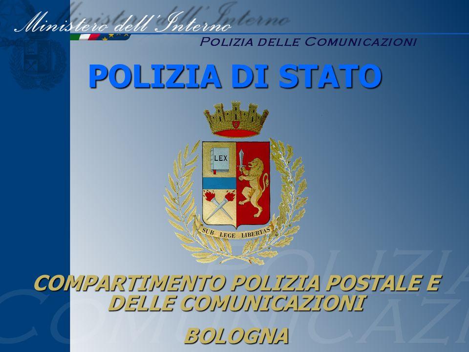 COMPARTIMENTO POLIZIA POSTALE E DELLE COMUNICAZIONI BOLOGNA POLIZIA DI STATO