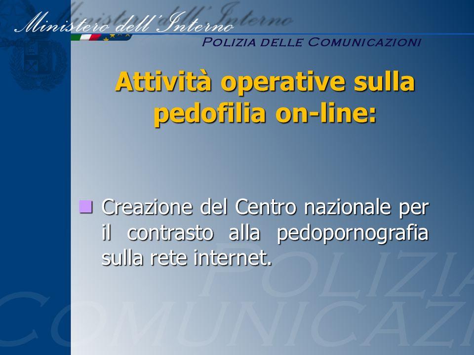 Creazione del Centro nazionale per il contrasto alla pedopornografia sulla rete internet. Creazione del Centro nazionale per il contrasto alla pedopor
