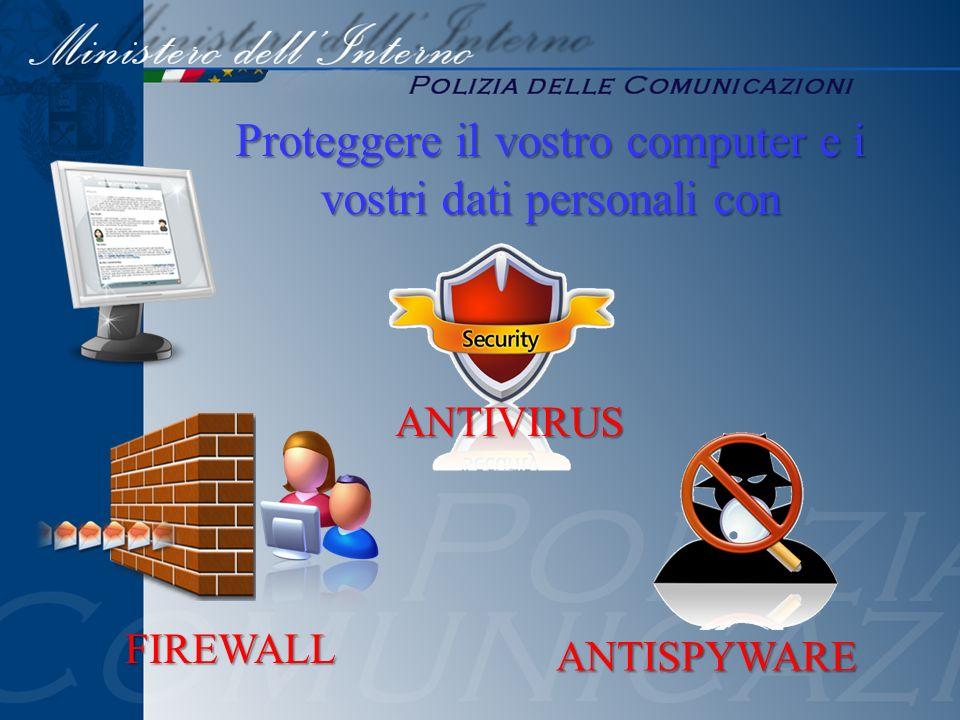 Proteggere il vostro computer e i vostri dati personali con ANTIVIRUS FIREWALL ANTISPYWARE