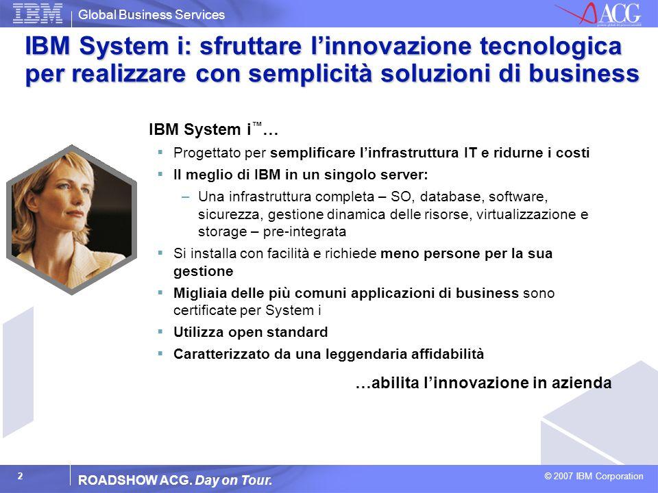 Global Business Services © 2007 IBM Corporation 3 ROADSHOW ACG.
