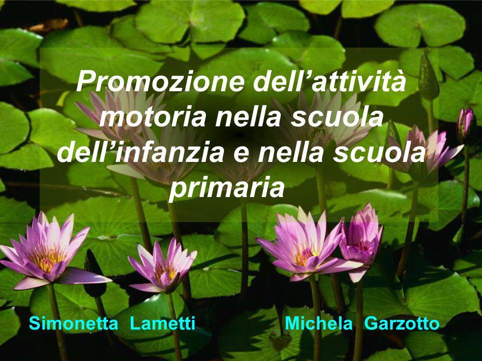 Promozione dellattività motoria nella scuola dellinfanzia e nella scuola primaria Simonetta Lametti Michela Garzotto