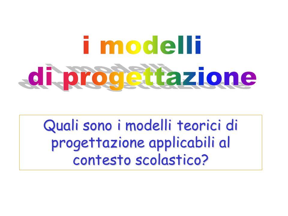 Quali sono i modelli teorici di progettazione applicabili al contesto scolastico?