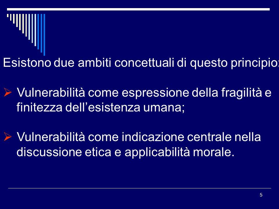 16 Vulnerabilità come condizione di fragilità nella competizione sociale ed economia.