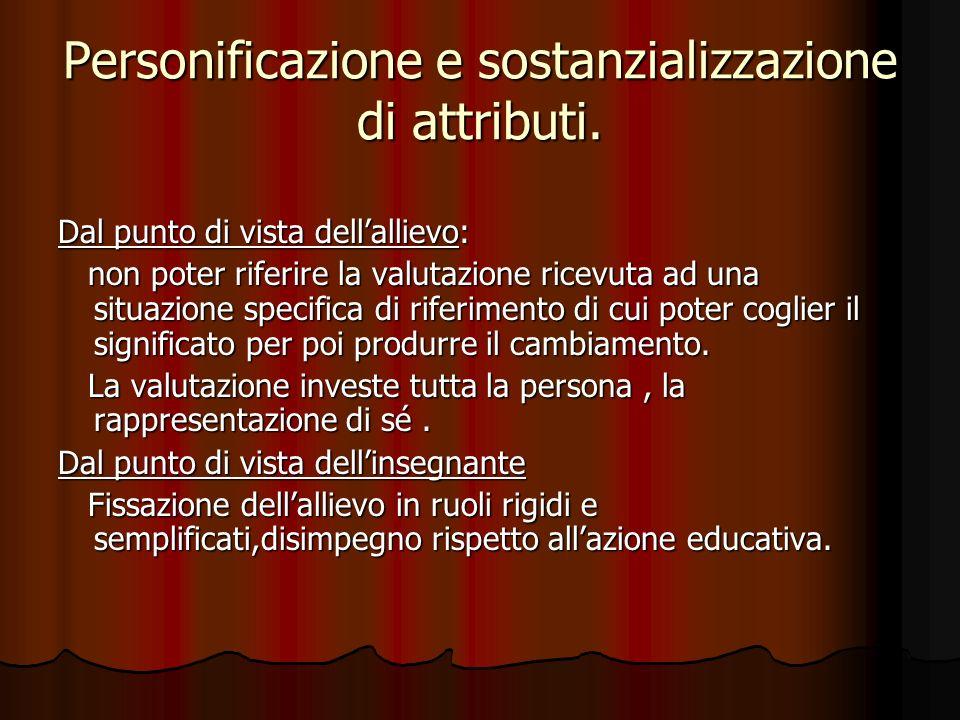 Personificazione e sostanzializzazione di attributi.