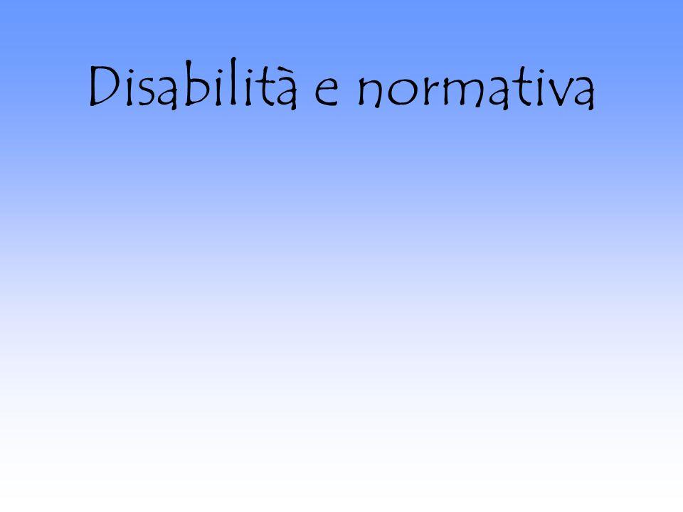 Disabilità e normativa