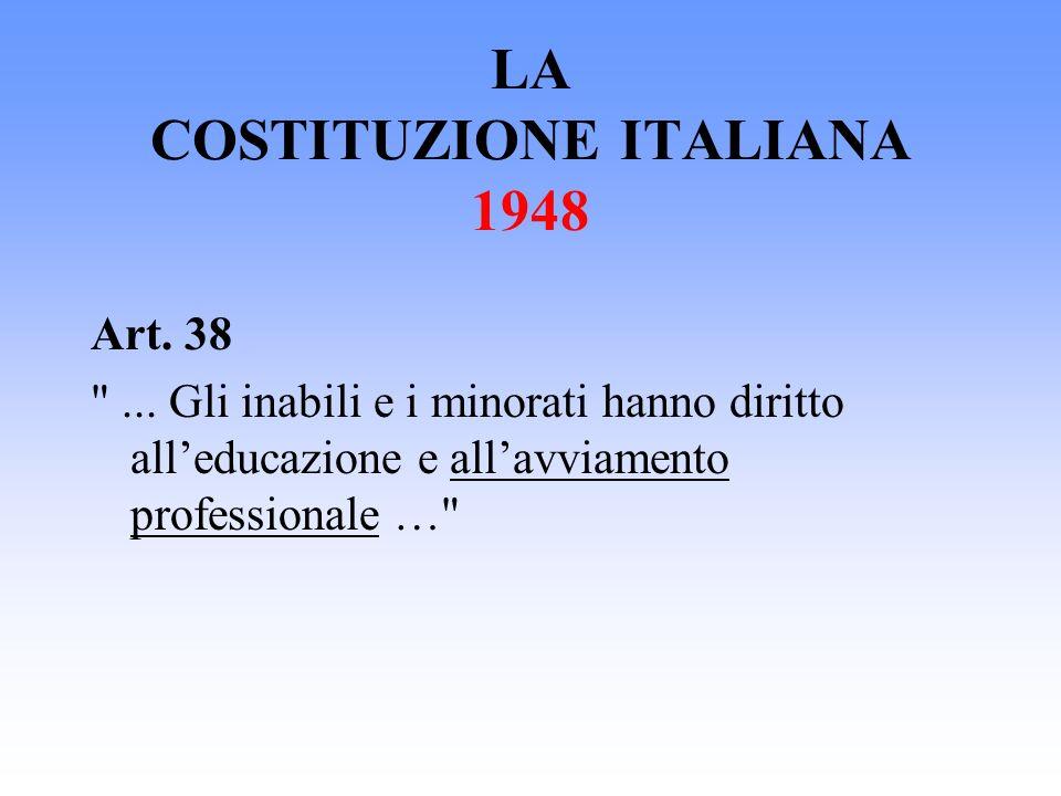 LA COSTITUZIONE ITALIANA 1948 Art. 38
