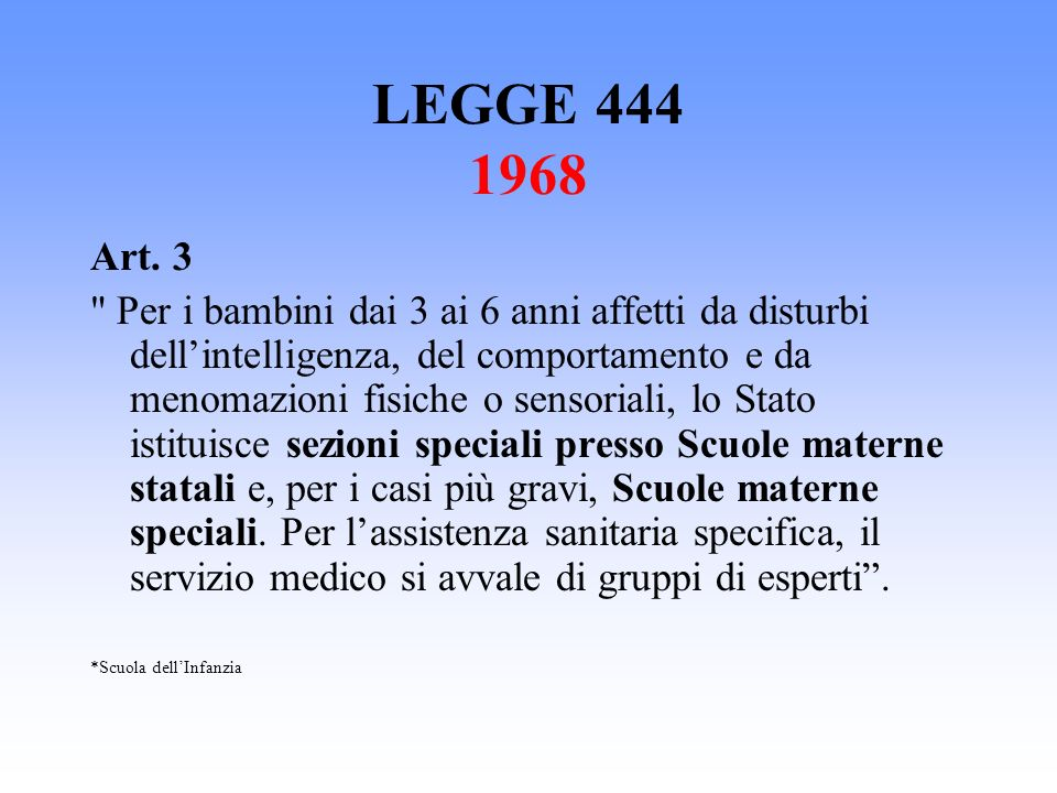 LEGGE 444 1968 Art. 3