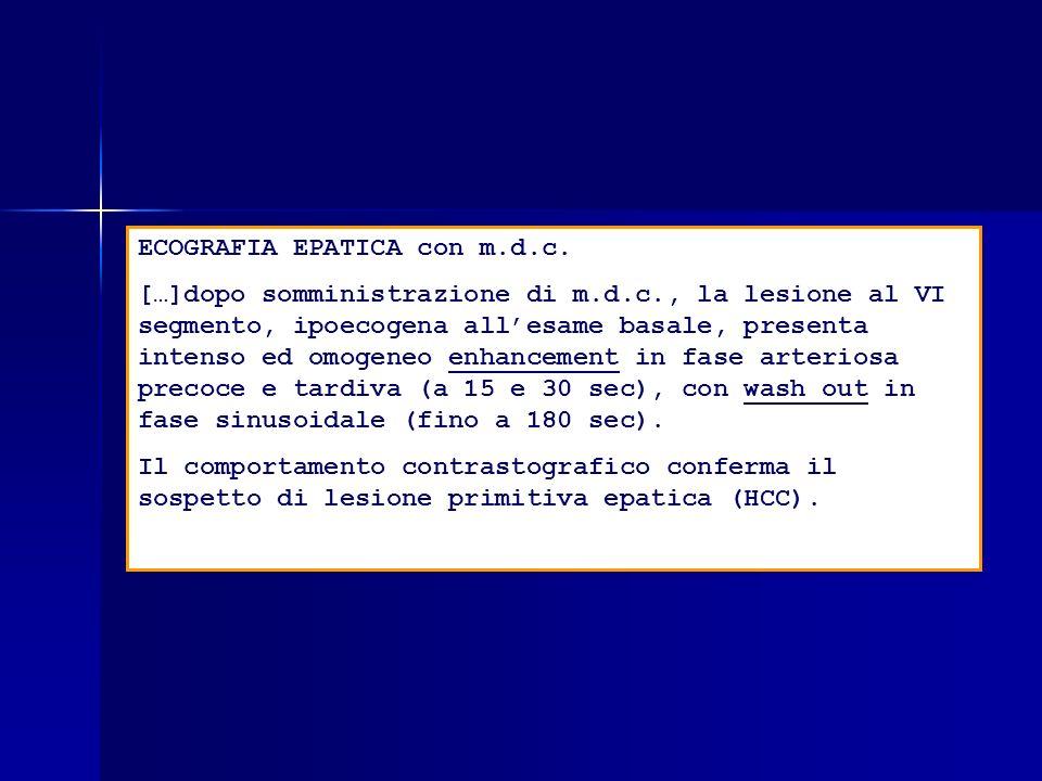 ECOGRAFIA EPATICA con m.d.c.