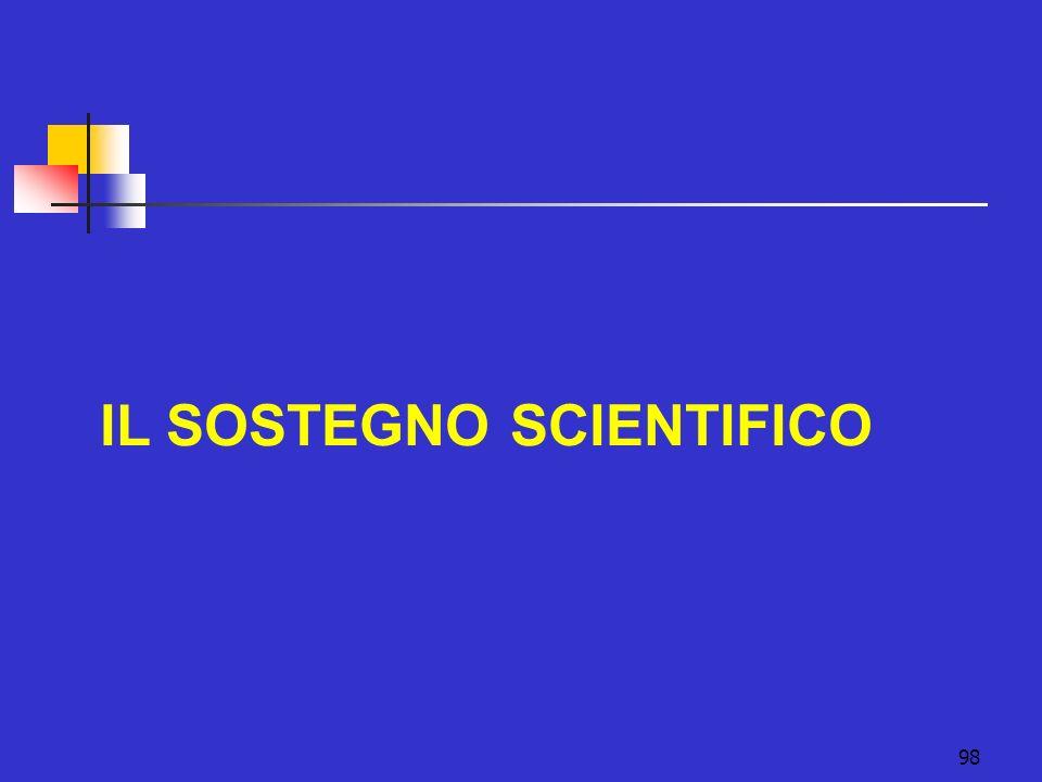 98 IL SOSTEGNO SCIENTIFICO