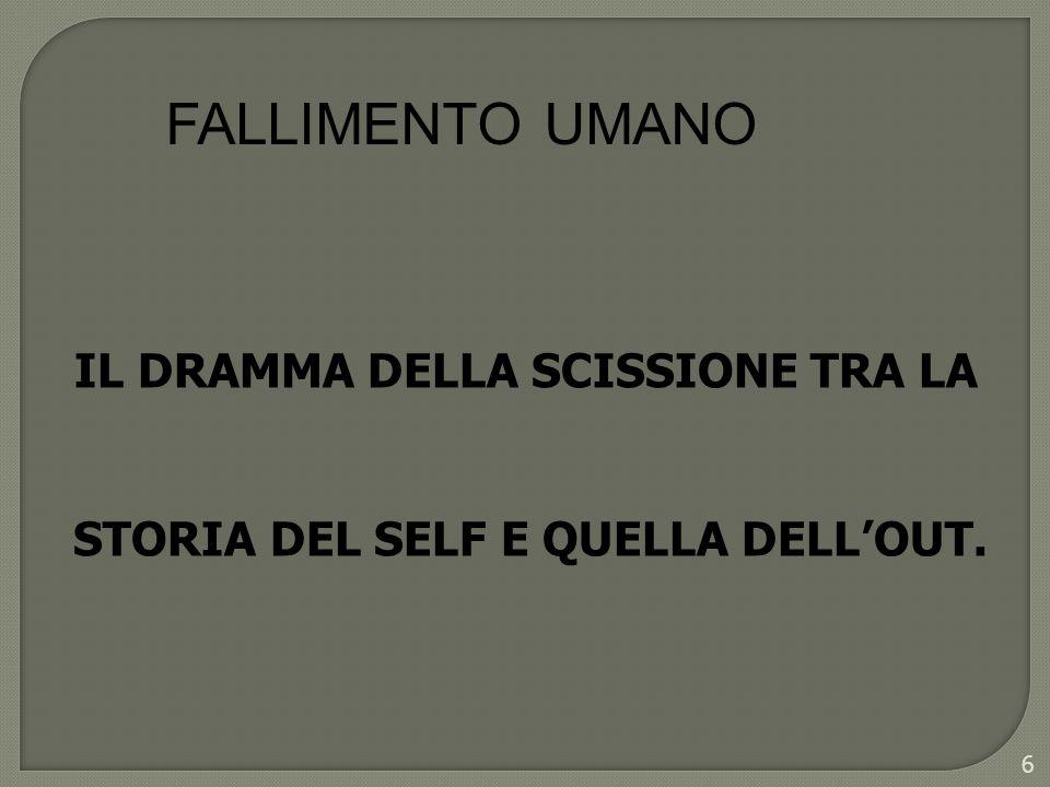 FALLIMENTO UMANO IL DRAMMA DELLA SCISSIONE TRA LA STORIA DEL SELF E QUELLA DELLOUT. 6