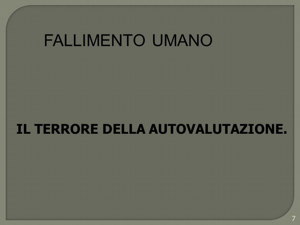 FALLIMENTO UMANO IL TERRORE DELLA AUTOVALUTAZIONE. 7