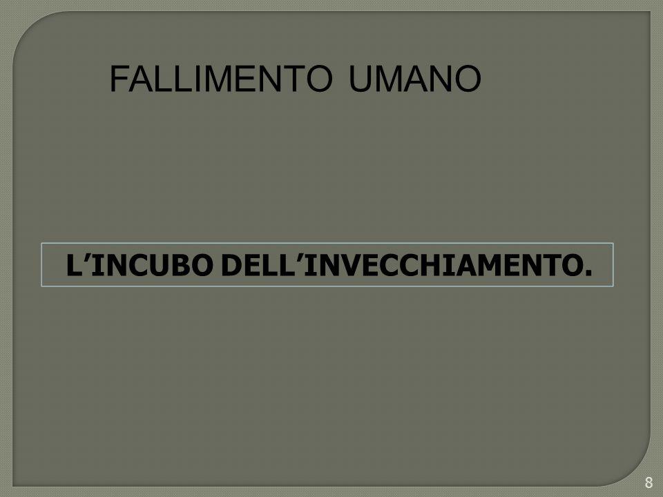 FALLIMENTO UMANO LINCUBO DELLINVECCHIAMENTO. 8