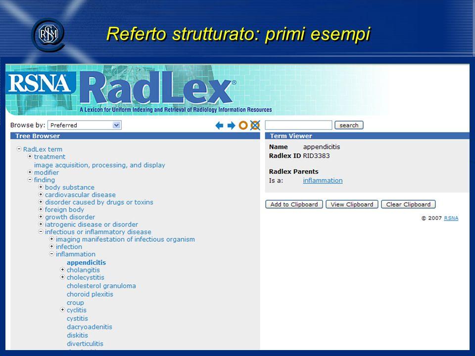 psacco@sirm.org 10 @ @ Referto strutturato: primi esempi