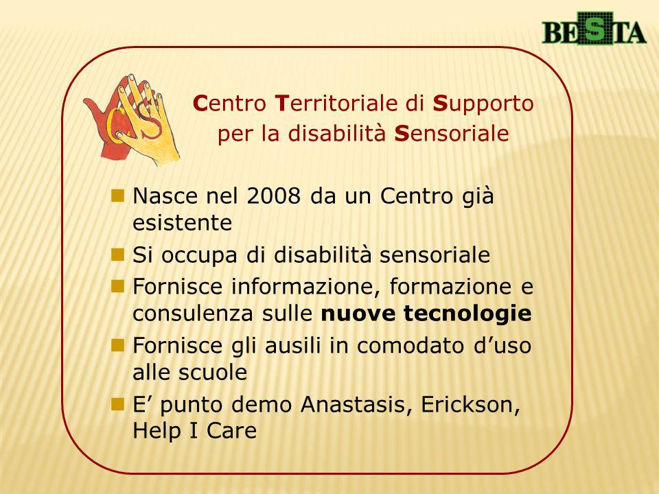 Nasce nel 2008 da un Centro già esistente Si occupa di disabilità sensoriale Fornisce informazione, formazione e consulenza sulle nuove tecnologie For