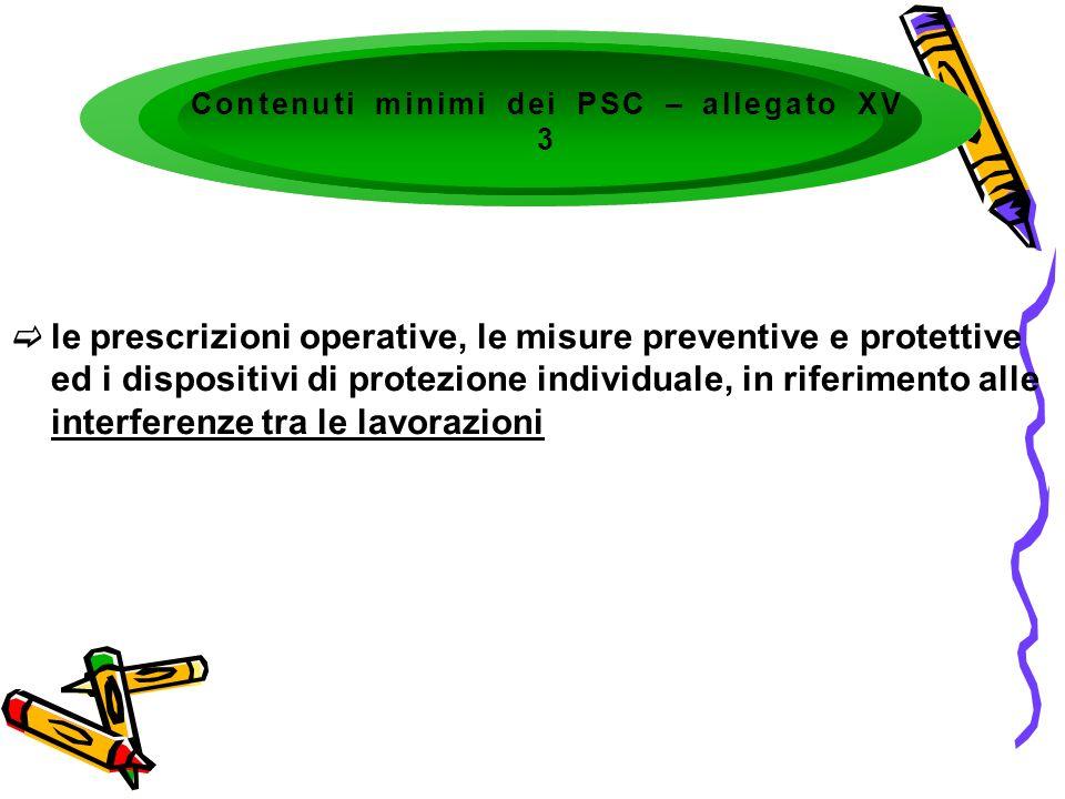 le prescrizioni operative, le misure preventive e protettive ed i dispositivi di protezione individuale, in riferimento alle interferenze tra le lavor