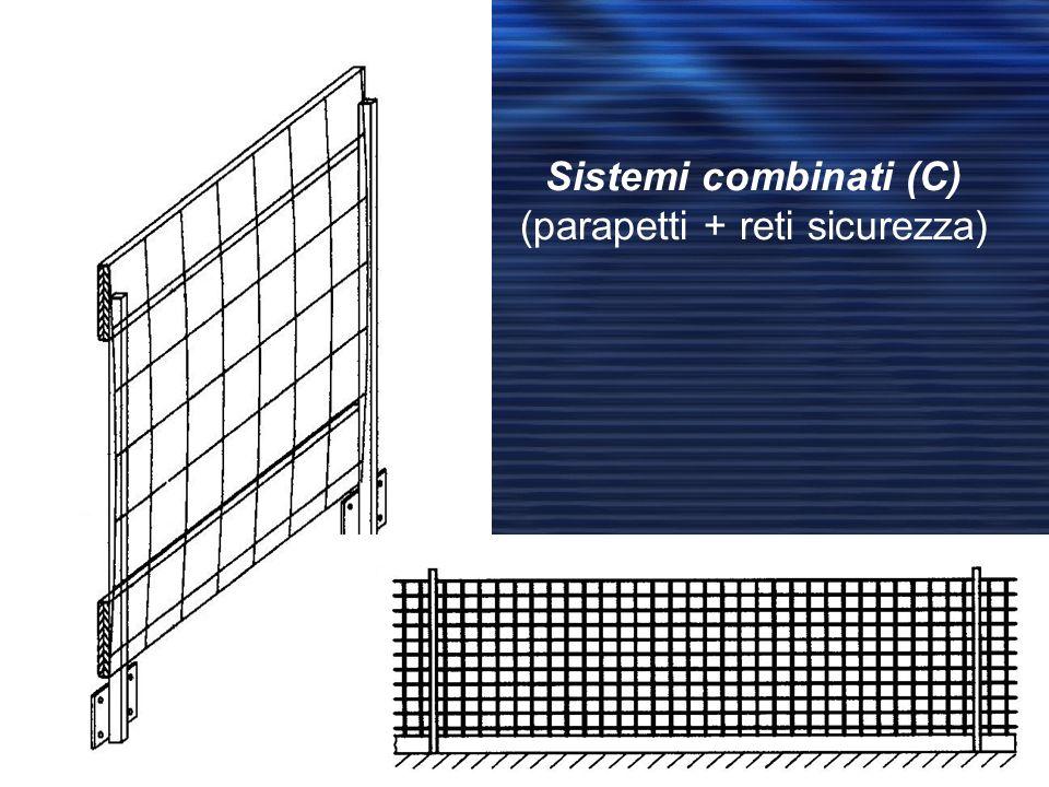 Sistemi combinati (C) (parapetti + reti sicurezza)